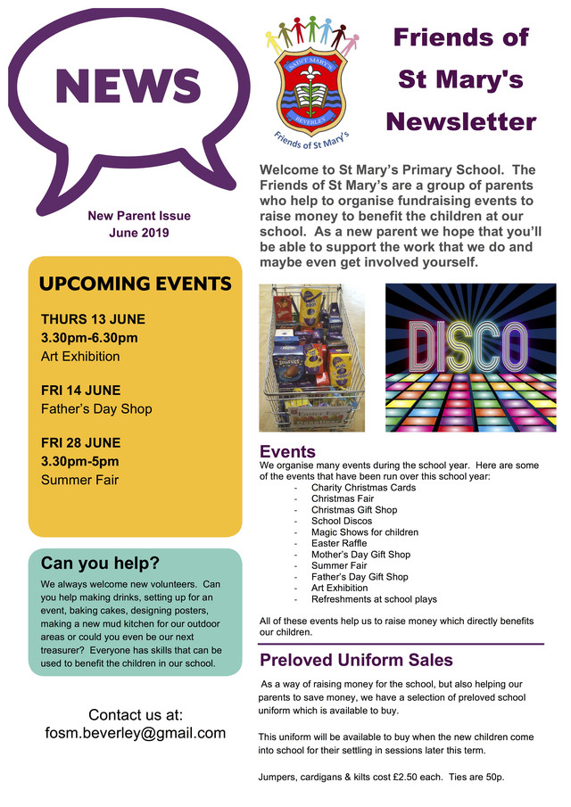 New Parent Newsletter Page 1
